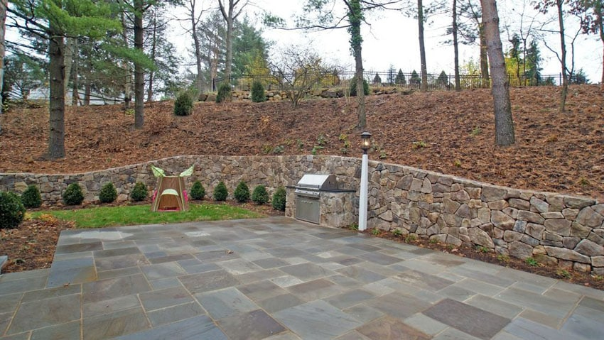 33 Stone Patio Ideas (Pictures) - Designing Idea on Patio Stone Wall Ideas  id=65119