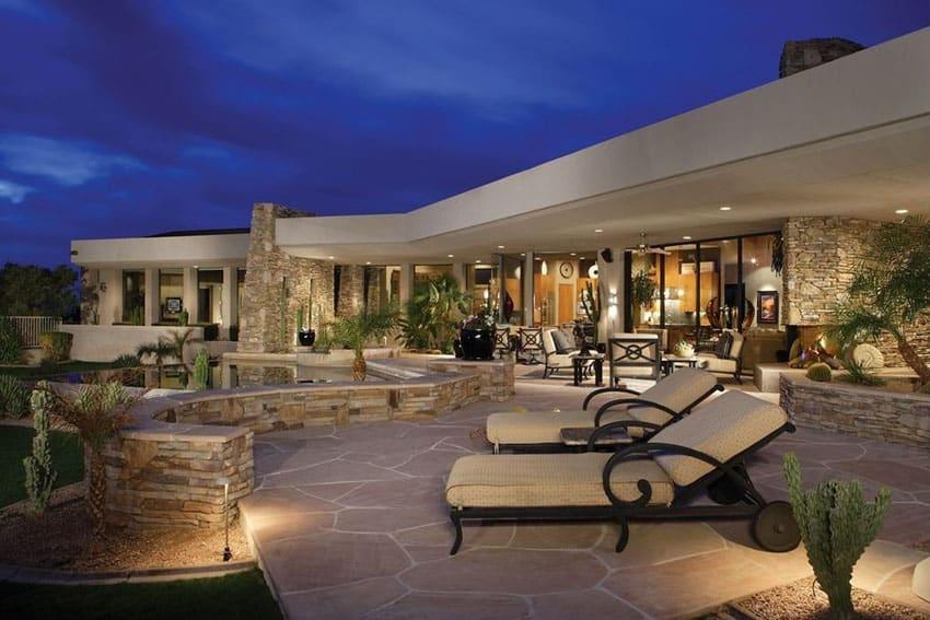 35 Stone Patio Ideas (Pictures) - Designing Idea on Luxury Backyard Patios id=76796