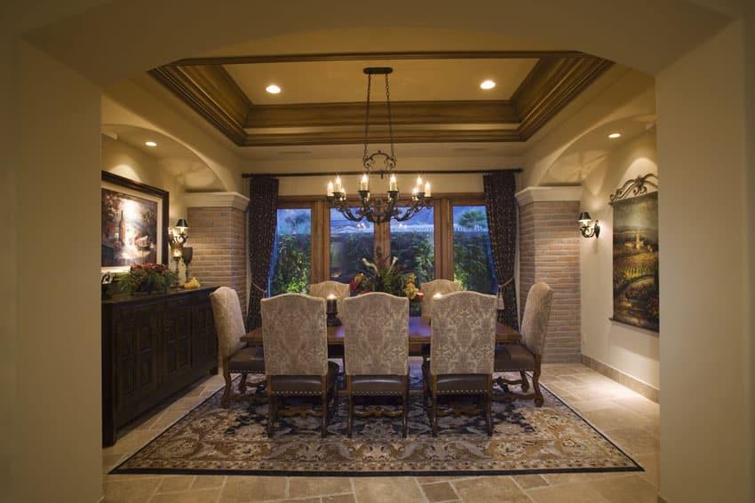 25 Formal Dining Room Ideas (Design Photos) - Designing Idea on Dining Table Ceiling Design  id=77248
