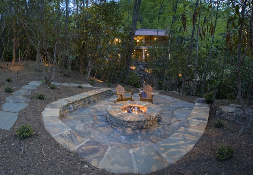 35 Stone Patio Ideas (Pictures) - Designing Idea on Patio Stone Wall Ideas  id=90670