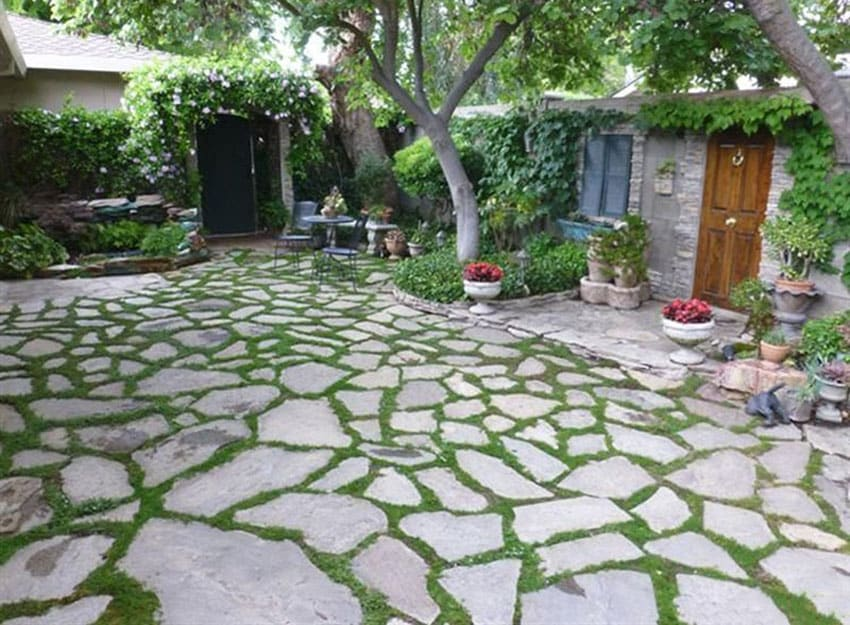 33 Stone Patio Ideas (Pictures) - Designing Idea on Rock Patio Designs  id=16503