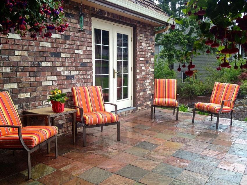 35 Stone Patio Ideas (Pictures) - Designing Idea on Patio Stone Deck Ideas id=43156