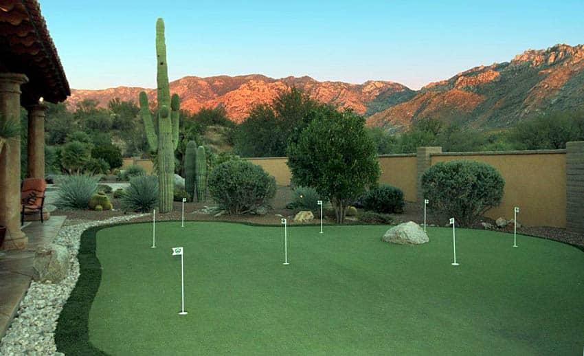 25 Golf Backyard Putting Green Ideas - Designing Idea on Mountain Backyard Ideas id=85681