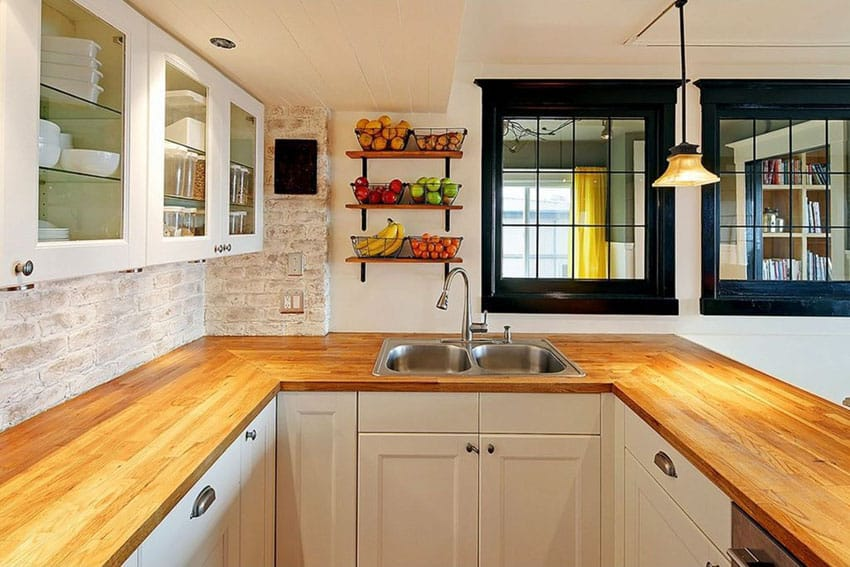 Wood Kitchen Countertops (Design Ideas) - Designing Idea on Kitchen Countertops With Maple Cabinets  id=14533