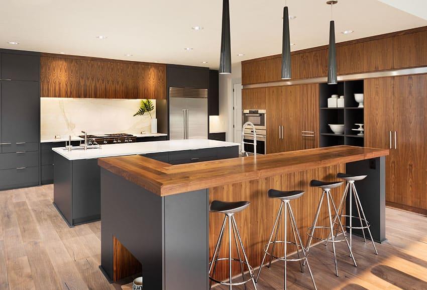 Wood Kitchen Countertops (Design Ideas) - Designing Idea on Kitchen Counter Decor Modern  id=68354