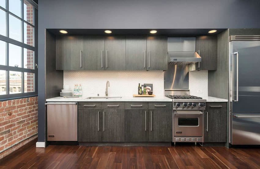 27 Small Kitchens With Dark Cabinets Design Ideas