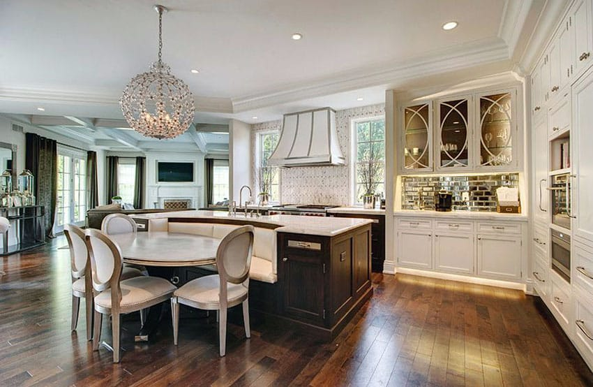 Kitchen Island With Attached Bench Seating Novocom Top