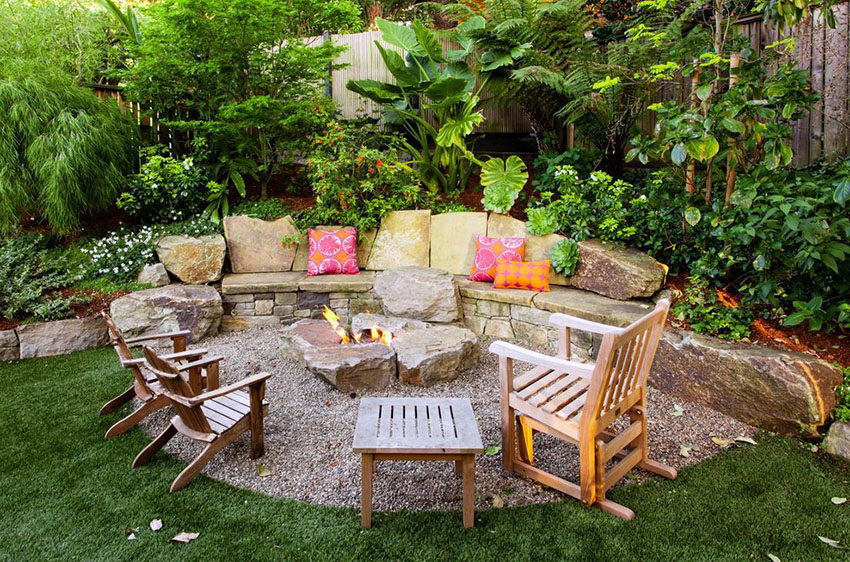 59 Outdoor Bench Ideas (Seating Pictures & Designs ... on Back Garden Seating Area Ideas  id=72404
