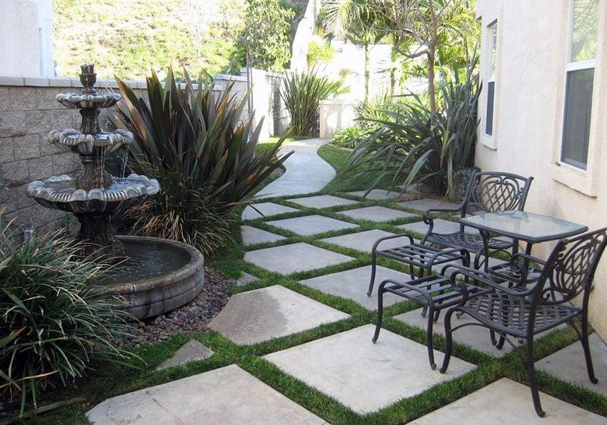 Paving Stone Ideas (Patio & Walkway Designs) - Designing Idea on Square Concrete Patio Ideas  id=76351