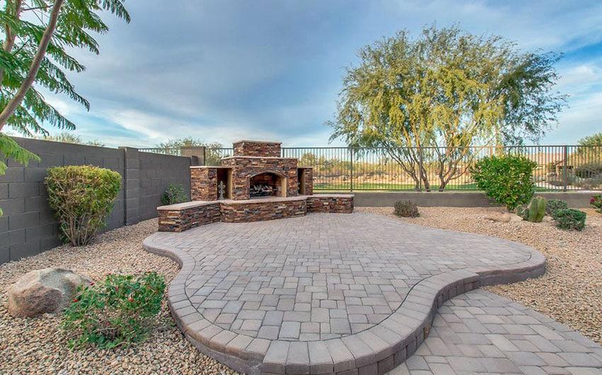Paving Stone Ideas (Patio & Walkway Designs) - Designing Idea on Square Concrete Patio Ideas  id=56402