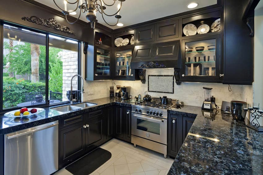 Black Granite Countertops (Colors & Styles) - Designing Idea on Dark Granite Countertops  id=18304