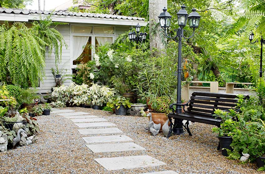 47 Best Gravel Patio Ideas (DIY Design Pictures ... on Pebble Yard Ideas id=73848
