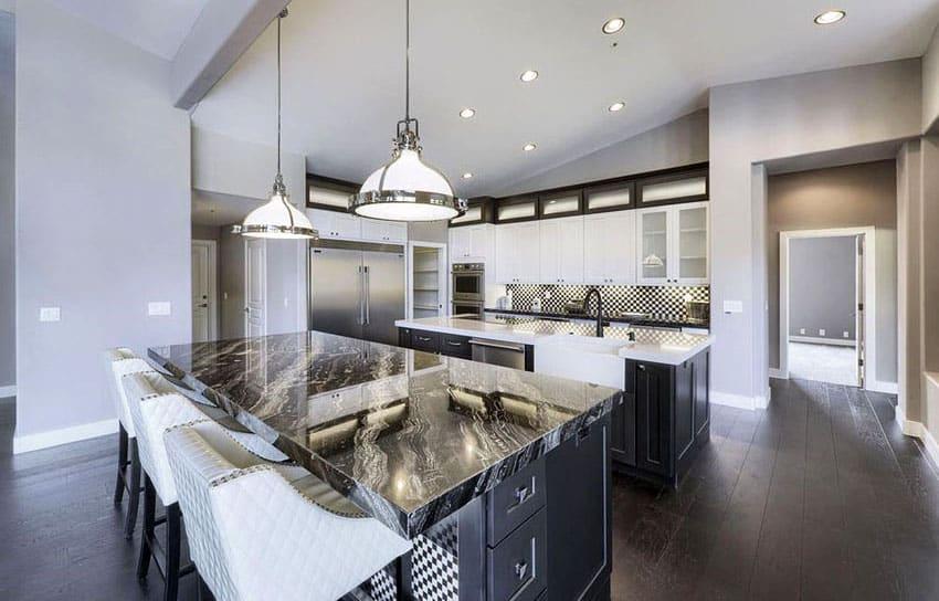 Black Granite Countertops (Colors & Styles) - Designing Idea on Black Granite Countertops Kitchen  id=33417