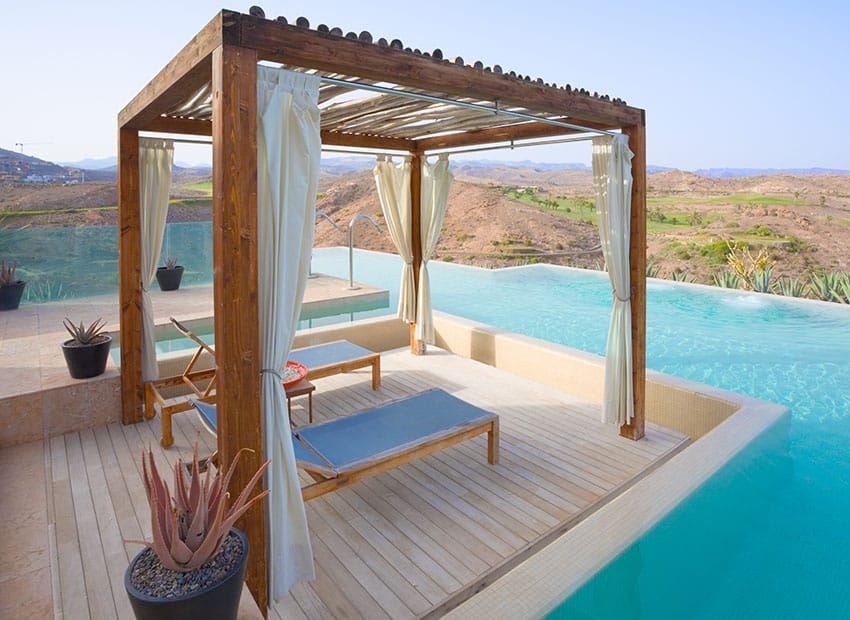 27 Exotic Pool Cabana Ideas (Design & Decor Pictures ... on Cabana Designs Ideas id=50134