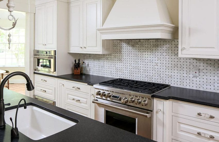 Black Granite Countertops (Colors & Styles) - Designing Idea on Backsplash For Black Granite Countertops And White Cabinets  id=54339