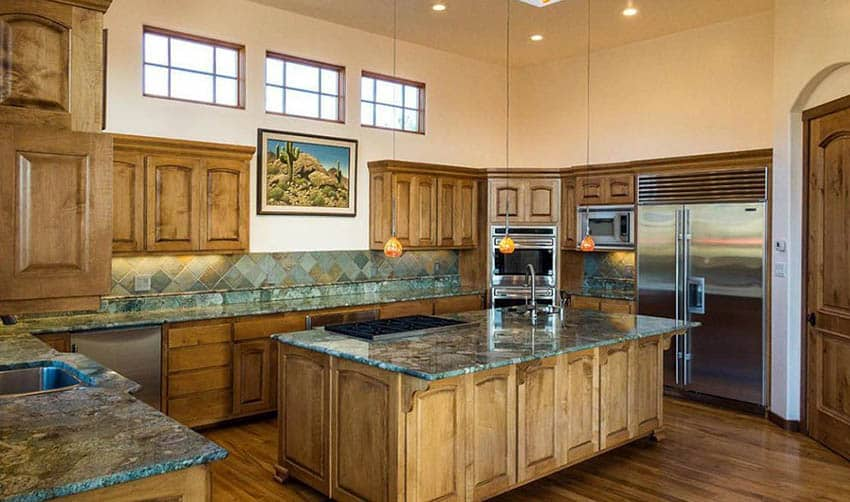 Green Granite Countertops (Colors & Styles) - Designing Idea on What Color Cabinets With Black Granite Countertops  id=26874