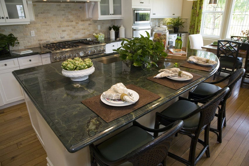 Green Granite Countertops (Colors & Styles) - Designing Idea on What Color Cabinets With Black Granite Countertops  id=66054