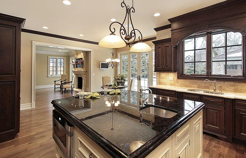 Black Granite Countertops (Colors & Styles) - Designing Idea on Black Granite Countertops  id=89827