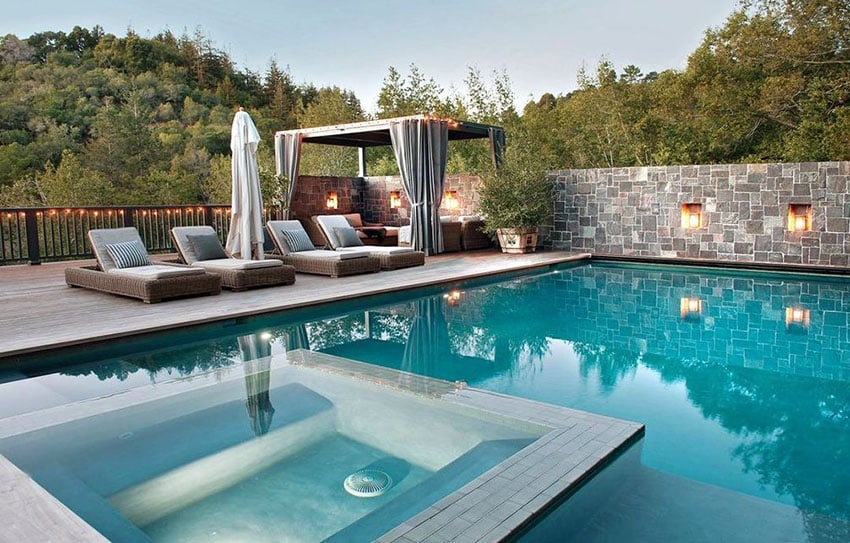 27 Exotic Pool Cabana Ideas (Design & Decor Pictures ... on Small Pool Cabana Ideas id=19511