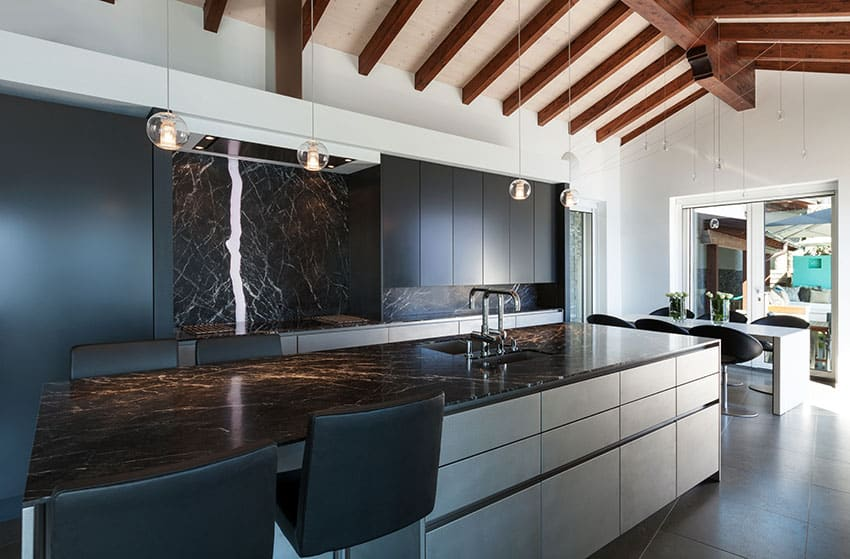 Black Granite Countertops (Colors & Styles) - Designing Idea on Backsplash For Black Granite Countertops And White Cabinets  id=88042