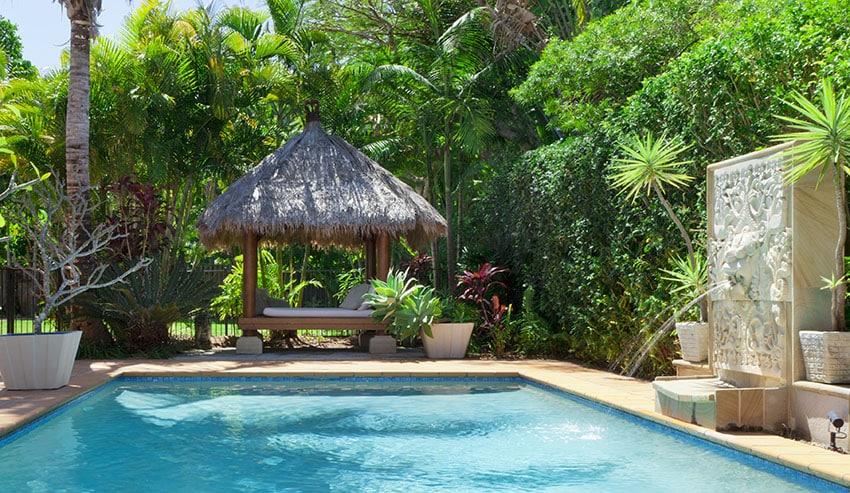 27 Exotic Pool Cabana Ideas (Design & Decor Pictures ... on Small Pool Cabana Ideas id=67532