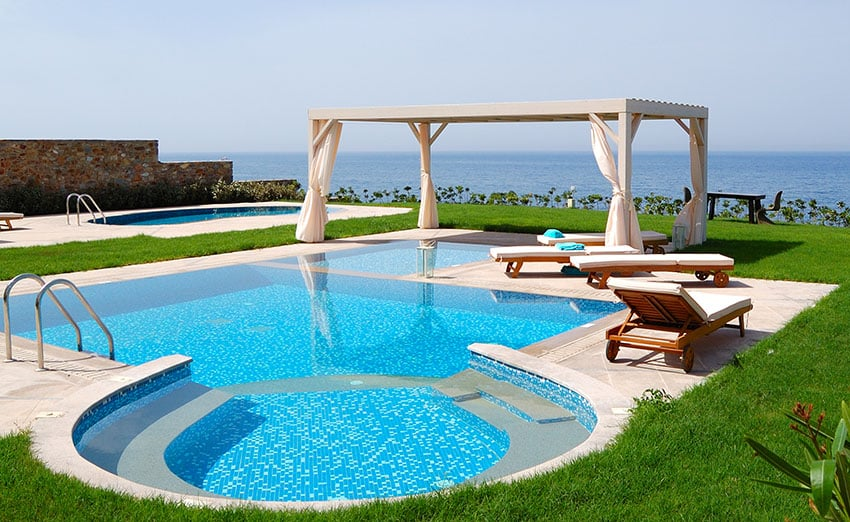27 Exotic Pool Cabana Ideas (Design & Decor Pictures ... on Cabana Designs Ideas id=40959