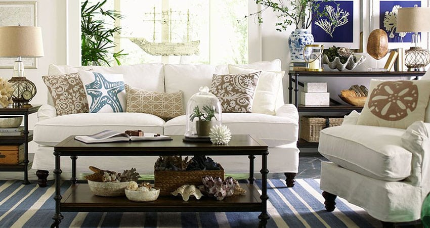 19 Coastal Themed Living Room Designs Decorating Ideas