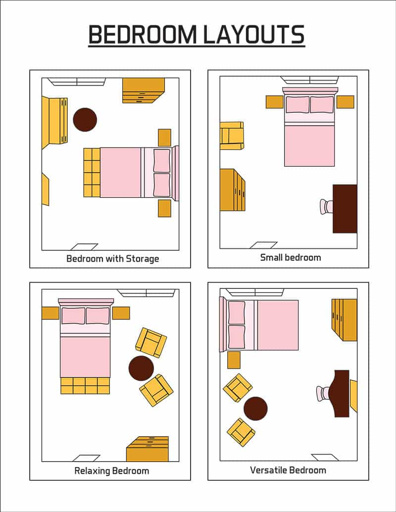 10x10 Bedroom Design Arrangement