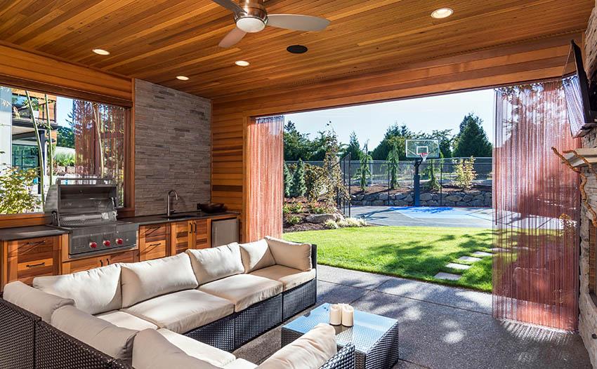 38 Beautiful Backyard Pavilion Ideas (Design Pictures ... on Outdoor Patio Pavilion id=92257