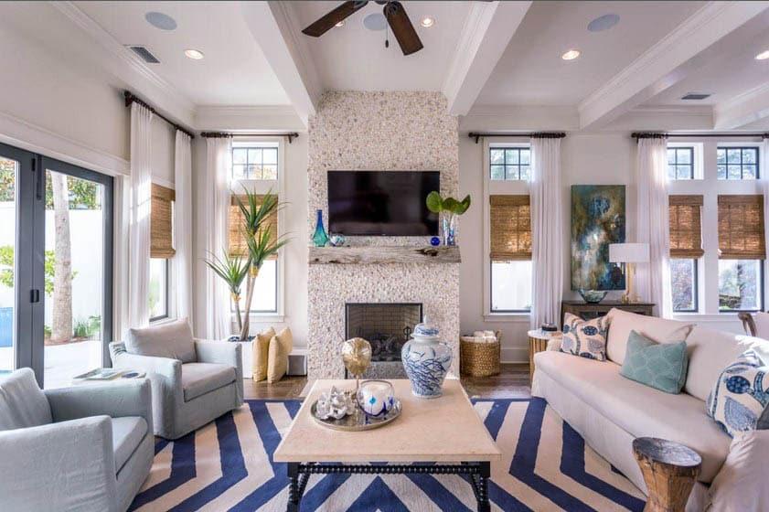 21 Coastal Themed Living Room Designs (Decorating Ideas ... on Living Room Decor  id=86005