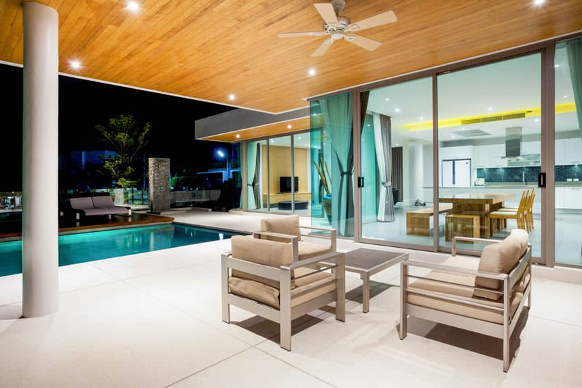 33 Stunning Modern Patio Ideas (Pictures) - Designing Idea on Modern Backyard Ideas With Pool id=39275