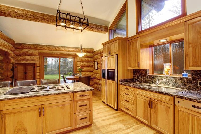 Log Cabin Kitchens Cabinets Amp Design Ideas Designing Idea