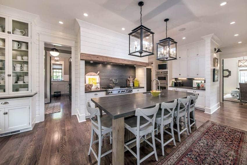 Farmhouse Kitchen Cabinets (Door Styles, Colors & Ideas ... on Luxury Farmhouse Kitchen  id=32161