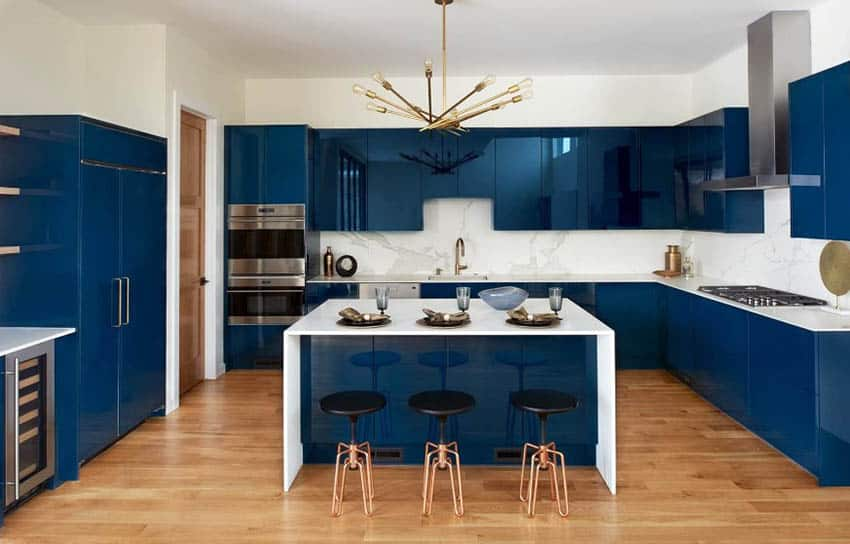 33 Blue And White Kitchens Design Ideas Designing Idea