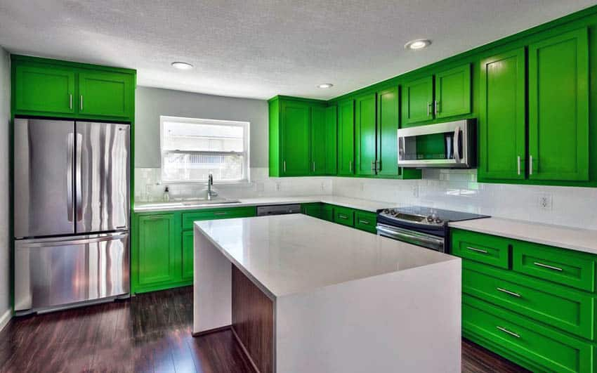 Green Kitchen Cabinets Design Ideas Designing Idea