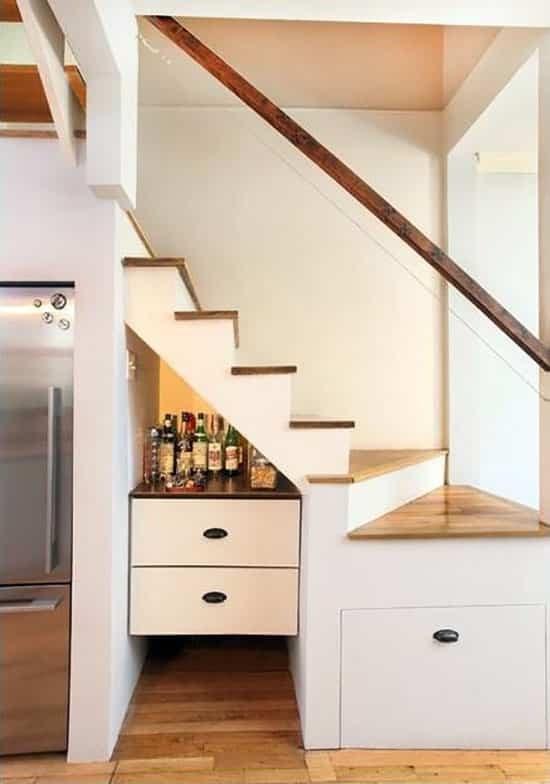 55 Creative Under Stairs Ideas Closet Storage Designs   Mini Bar Under Stairs Design   Stairs Cupboard   Escaleras   Interior Design   Basement Stairs   Stair Storage