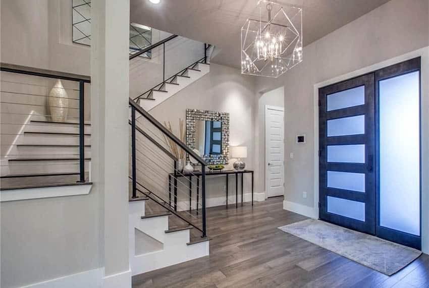 60 Gorgeous Stair Railing Ideas Designing Idea | Black Metal Stair Railing | Minimalist Simple Stair | Craftsman Style | Brushed Nickel | Rustic | Horizontal