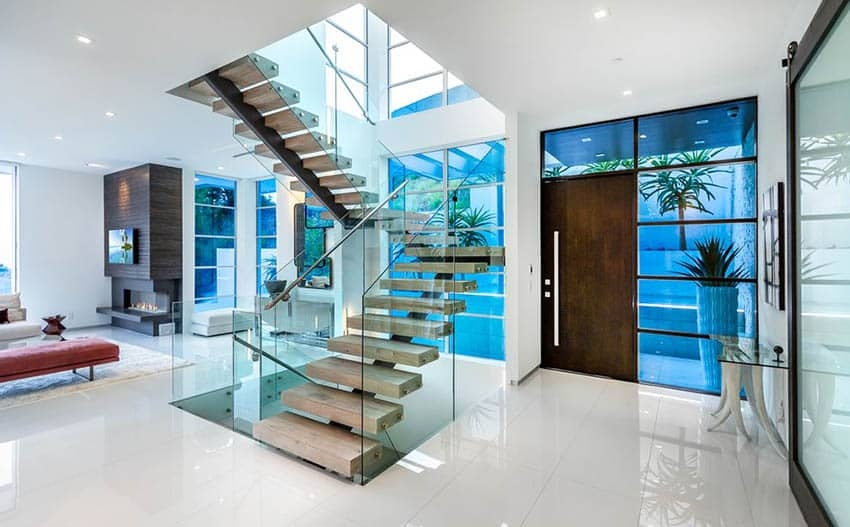 60 Gorgeous Stair Railing Ideas Designing Idea | Glass Railing Designs For Stairs | Spiral Staircase | Beautiful | Contemporary | Curved | Guardrail