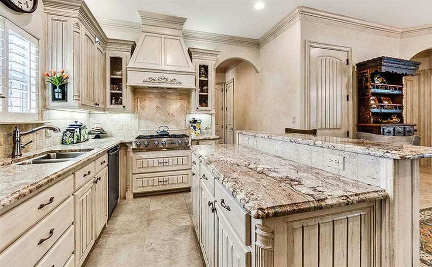Distressed Kitchen Cabinets (Design Pictures)