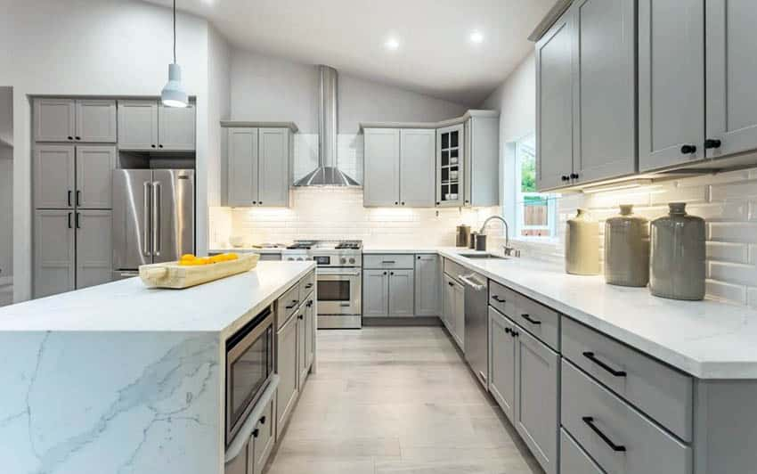 kitchen colors with gray cabinets