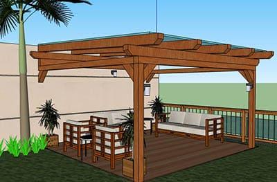 Pergola Design Software - Designing Idea on Sketchup Backyard id=17616