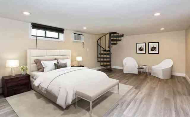 Modern bodrum yatak odası