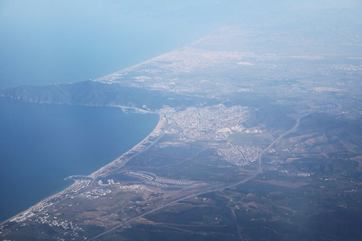 tangier morocco africa from the plane