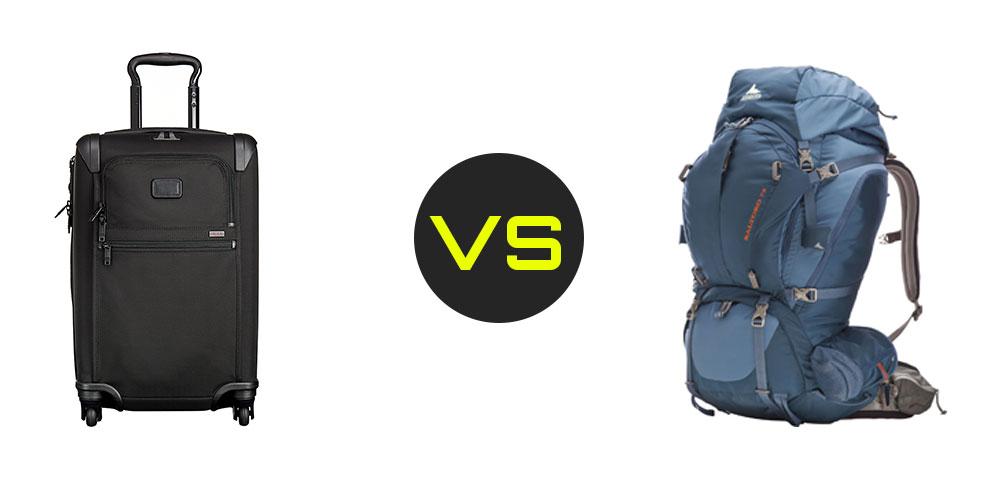 Roller bag vs backpack