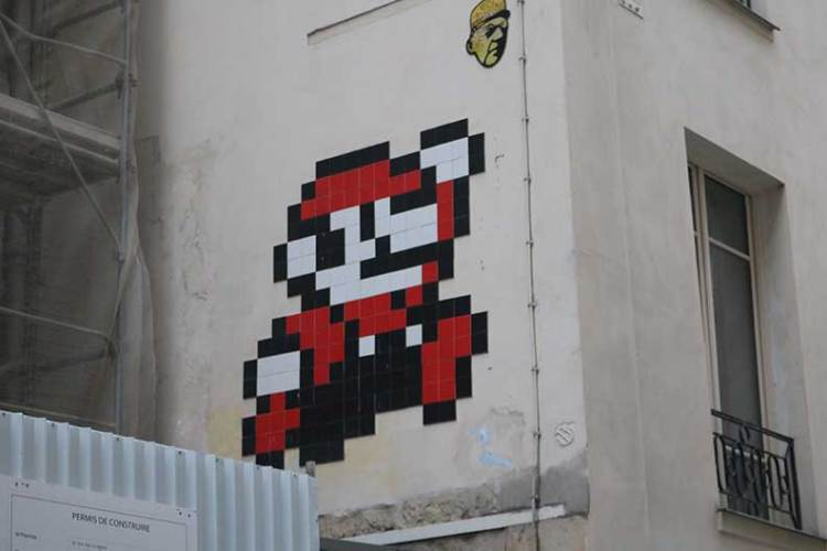invader graffiti artist mario
