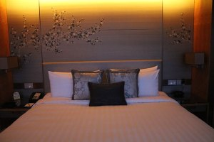 king size bed at the Shangri-la