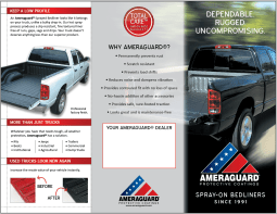 2013 re-design of sales brochure, outer spread