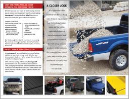 2013 re-design of sales brochure, inner spread