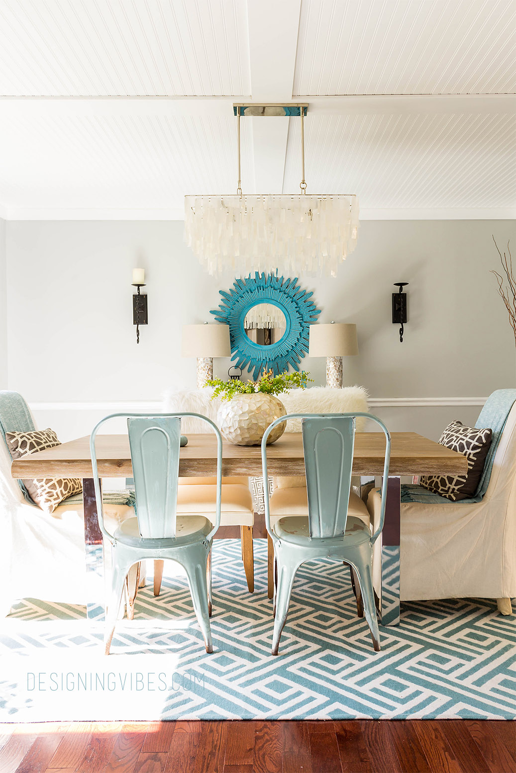 Bringing Rustic Coastal Vibes to my Dining Room