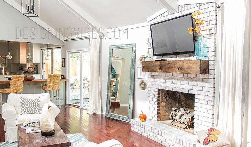 neutral fall decor living room